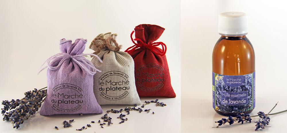 Récolte et vente de sachets de grains de lavande bio