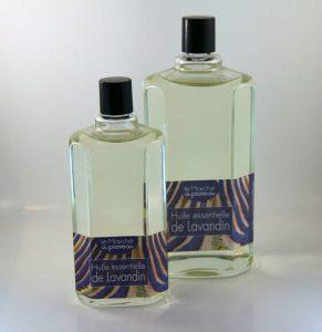 huile essentielle lavandin bouteille en verre rondes