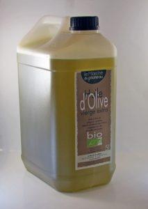 huile d'olive bio bidon plastique 5L