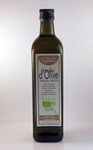 Huile olive bio de Provence - 75cl - Le Marché du Plateau - Valensole- Samuel Berenger