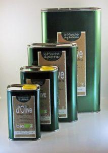 huile d'olive bidon aluminium