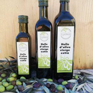 Huile d'olive biologique certifiée du plateau de Valensole. Récolte novembre 2018.