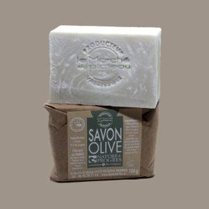 Savon 100 g saponifié bio à froid - olive - Le Marché du Plateau - Valensole