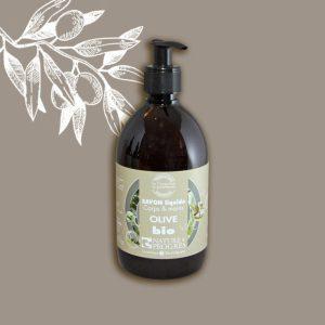 Savon liquide bio Corps et mains olive